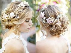 Beautiful updo with flowers