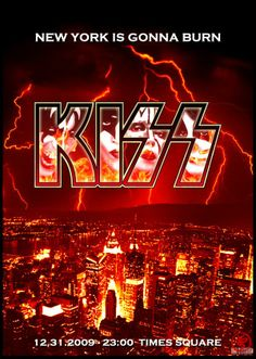 KISS New Year's Eve Concert Poster https://www.facebook.com/FromTheWaybackMachine