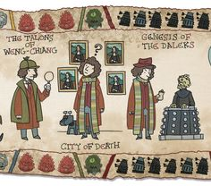 A Doctor Who Bayeux Tapestry! Squee! (And prints are available for pre-order!)