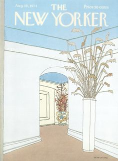 Gretchen Dow Simpson : Cover art for The New Yorker 2583 - 19 August 1974
