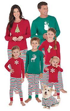 f61a3bb292 PajamaGram Holiday Stripe Matching Family Pajama Set Matching Family  Christmas Pjs