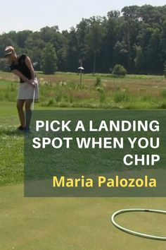 Distance control on your chip shots can be tricky. Maria Palozola demonstrates how to take the focus away from the flag and on to a landing spot so that you can use the natural contours of the green and get the ball close to the hole. #golf #golftip #golfswing #golflessons #womensgolf Golf Score, Golf Chipping, Natural Contour, Golf Instruction, Golf Putting, Golf Exercises, Golf Training, Golf Lessons, Play Golf