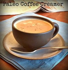 Paleo Coconut Milk Coffee Creamer #FitMomsFullPlates