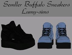 Sims 4 cc's - the best: semller buffalo sneakers by lumy sims Les Sims 4 Pc, Sims Cc, Sims 4 Anime, Buffalo Shoes, Sims 4 Cc Kids Clothing, Sims 4 Cc Shoes, Sims 4 Dresses, Play Sims, Sims Hair