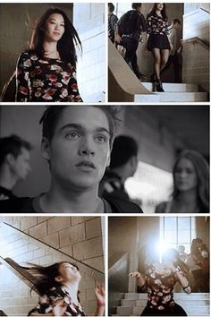 """4x4 """"The Benefactor"""" - Kira trying to lure Liam to come to Lydias beach house """"party"""" during his first full moon."""