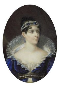 Empress Josephine, wearing a pearl and sapphire bandeau