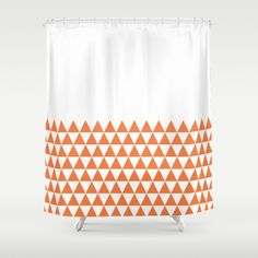 36 colours, Geometric Triangles Half Pattern Shower Curtain, bathroom shower…