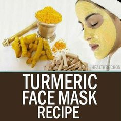 DIY Tumeric Face Mask Recipe skin skincare beauty beauty tips diy face masks
