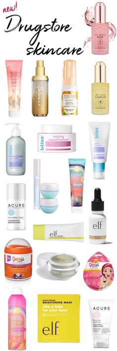 New drugstore skincare saviors for Spring! Hit the refresh button on your skincare routine with these new drugstore beauty products #drugstoreskincareroutine
