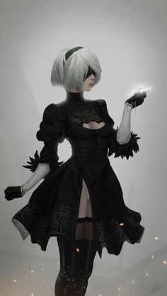 NieR: Automata YoRHa Anime quotes and memes and sexy anime artwork & drawings of manga and anime art that I find interesting and ike to draw for myself as well. Girls Frontline, Anime Scenery, Video Game Art, Fantasy Girl, Game Character, Female Characters, Fanart, Animation, Cartoon