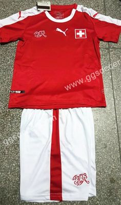 Cheap soccer jersey from topjersey 2016 European Cup Switzerland Home Red Kids/Youth Socce Uniform-Switzerland,Youth and Kid set| topjersey
