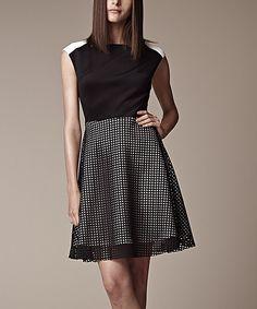 Love this Julia Jordan Black & Ivory Lace Sleeveless Dress by Julia Jordan on #zulily! #zulilyfinds