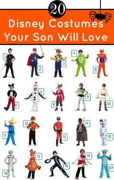Disney Costumes Your Son Will Love   All Under $30. Boy Disney  CharactersDisney ...