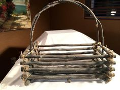 $25 2017 Primitive Rustic Decor Wood-Stick-Twig-Branch Magazine Rack Basket   #1889910342