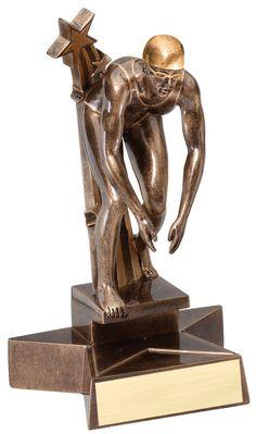 "Female Swimming Trophy - 8.5"" Super Star Resin"