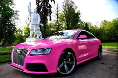 Audi pink - girly cars for female drivers! love pink cars ♥ it's the dream car for every girl all things pink! Audi A1, My Dream Car, Dream Cars, Pink Range Rovers, Volkswagen, Girly Car, Hot Rides, Cute Cars, Pretty Cars