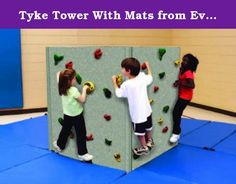 Tyke Tower With Mats from Everlast Climbing. Designed especially for preschoolers, the Tyke Tower is a five-foot high, freestanding climbing wall that is perfect for gross motor development. With its Magna® surface that accepts magnets, The Tyke Tower also enables children to work on fine motor skills to place, remove and arrange magnets as they climb. This feature provides unique opportunities to reinforce learning, like letter, number and shape recognition. Additional manipulatives can…