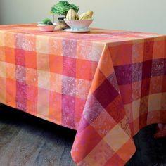 French-Linen-Fete-Garnier-Thiebaut-Mille-Coleurs-Cotton-Jacquard-Tablecloth-NWT