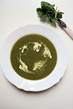 Leek and nettle soup.