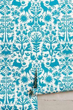 Folkloric Forest Wallpaper - anthropologie.com #anthrofave