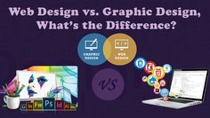 #WebDesign vs. #Graphic Design: What's the #Difference? Reading this article further will make a clear idea of the difference between graphic design and web design