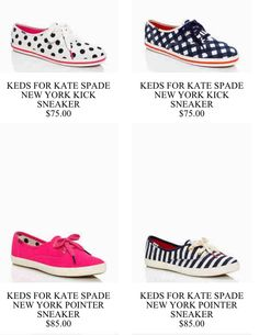New Kate Spade patterned keds! Yes please!