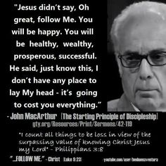 christian quotes | John MacArthur quotes | following Jesus | suffering | affliction | tribulation | trials | distresses