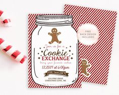 cookie exchange christmas holiday party invitation