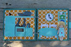 Ready made Dollhouse quiet book with felt paper doll by TomToy