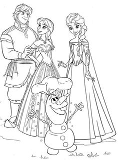 Coloring Page Frozen Family
