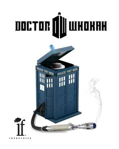 Doctor Who themed hookah! Smoke On The Water, Hookah Lounge, Pretty Little Lairs, Doctor Who Tardis, Police Box, Dr Who, Bongs, Favorite Tv Shows, Vape