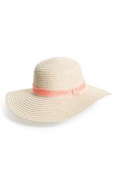Capelli of New York Floppy Straw Hat (Big Girls) Floppy Straw Hat f776d682f8e5