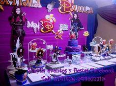 Decoración de Descendientes, tortas, bocaditos personalizados.  Sheylla eventos y fiestas/facebook Telf. 5741436-944937319 ( whatsap)