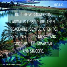 James 3:17  But the wisdom from above is first pure, then peaceable, gentle, open to reason, full of mercy and good fruits, impartial and sincere.