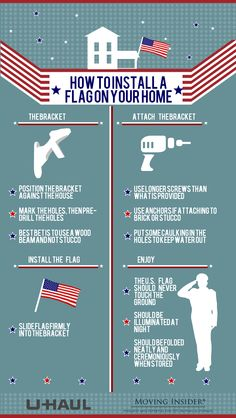 Get your house ready for the 4th! Learn how to properly install a flag to your home. | Moving Insider Tips
