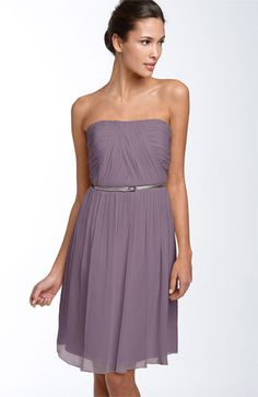 Donna Morgan Belted Chiffon Dress available at #Nordstrom #Nordstromweddings