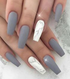 9 Excited Matte Nail Design Ideas for you to apply : Have a look! The post 9 Excited Matte Nail Design Ideas for you to apply : Have a look! & Nails appeared first on Nail designs . Marble Acrylic Nails, Coffin Nails Matte, Aycrlic Nails, Best Acrylic Nails, Summer Acrylic Nails, Nails Inc, Swag Nails, Matte Nail Art, Summer Nails