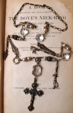 OOAK Rosary Inspired Necklace and Earring