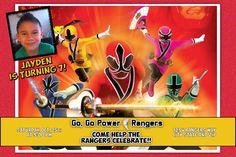 Power Ranger Birthday Invitations