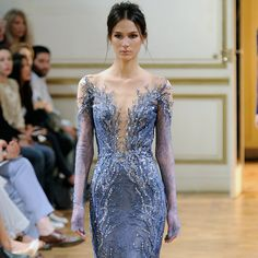 Midnight Blue and Lace Zuhair Murad Couture | FASHION IN DUBAI