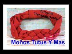 TURBANTE TRENZADO DOBLE Paso A Paso DOUBLE KNOTTED TURBAN HEADBAND Tutor...