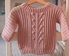 Crochet PATTERN - Winter Garden Sweater (newborn up to years) (English only) Crochet For Kids, Easy Crochet, Crochet Hooks, Crochet Baby, Knit Crochet, Crochet Children, Shawl Patterns, Knitting Patterns, Crochet Patterns