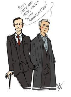 Mycroft and Lestrade Sherlock Actor, Sherlock Holmes 3, Sherlock Series, Sherlock Fandom, Sherlock John, Moriarty, Dr Watson, Mark Gatiss, Geek