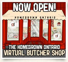 About Homegrown Ontario Butcher Shop, Buy Local, Poultry, Healthy Foods, Ontario, Menu, Chicken, Reading, Menu Board Design