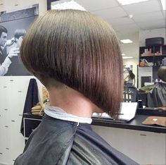 Perfect A-Line bob with a very short buzzed nape