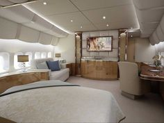 Private Jet with Bedroom . Private Jet with Bedroom . the Boeing 747 Vip Version is the Final Word In Luxury Air Jets Privés De Luxe, Luxury Jets, Luxury Private Jets, Private Plane, Luxury Yachts, Avion Jet, Airplane Bedroom, Airplane Interior, Jet Aviation