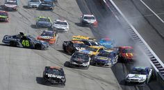"""Jimmie Johnson Photos Photos - Jamie McMurray, driver of the <a class=""""pintag searchlink"""" data-query=""""%231"""" data-type=""""hashtag"""" href=""""/search/?q=%231&rs=hashtag"""" rel=""""nofollow"""" title=""""#1 search Pinterest"""">#1</a> McDonald's/Cessna Chevrolet, Kevin Harvick, driver of the <a class=""""pintag searchlink"""" data-query=""""%234"""" data-type=""""hashtag"""" href=""""/search/?q=%234&rs=hashtag"""" rel=""""nofollow"""" title=""""#4 search Pinterest"""">#4</a> Jimmy John's Chevrolet, Martin Truex Jr, driver of the <a class=""""pintag searchlink"""" data-query=""""%2378"""" data-type=""""hashtag"""" href=""""/search/?q=%2378&rs=hashtag"""" rel=""""nofollow"""" title=""""#78 search Pinterest"""">#78</a> Furniture Row Toyota, Kevin Harvick, driver of the <a class=""""pintag searchlink"""" data-query=""""%234"""" data-type=""""hashtag"""" href=""""/search/?q=%234&rs=hashtag"""" rel=""""nofollow"""" title=""""#4 search Pinterest"""">#4</a> Jimmy John's Chevrolet, Jimmie Johnson, driver of the <a class=""""pintag searchlink"""" data-query=""""%2348"""" data-type=""""hashtag"""" href=""""/search/?q=%2348&rs=hashtag"""" rel=""""nofollow"""" title=""""#48 search Pinterest"""">#48</a> Lowe's Chevrolet, and AJ Allmendinger, driver of the <a class=""""pintag searchlink"""" data-query=""""%2347"""" data-type=""""hashtag"""" href=""""/search/?q=%2347&rs=hashtag"""" rel=""""nofollow"""" title=""""#47 search Pinterest"""">#47</a> Bush's Beans Chevrolet, are involved in an on-track incident with others during the NASCAR Sprint Cup Series AAA 400 Drive for Autism at Dover ..."""