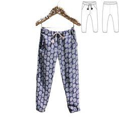 Patron de couture Pantalon ou Short DAKAR PDF 3-12A – ikatee