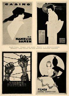 1926 Sven Brasch Danish Posters Film Peace Day Print