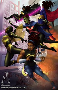 Young Justice, original artwork. (Wondergirl, Bumblebee, Miss Martian, Supergirl, Batgirl) I've been binge watching the first season of Young Justice like crazy now that its on Netflix. They should've just put both seasons out all at once…while announcing the revival of the show…now that would make a great birthday present. Speaking of birthdays, you can purchase this print from my store (Storenvy) as well as all of my other prints for 15% off using the promo code ...